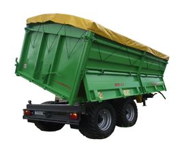 Three-way tipper trailer